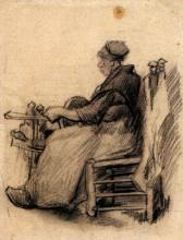 "Репродукция картины ""woman winding yarn"" художника ""ван гог винсент"""