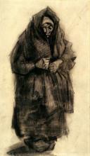 """Копия картины """"woman with a mourning shawl"""" художника """"ван гог винсент"""""""