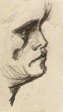 """Репродукция картины """"head of a man"""" художника """"ван гог винсент"""""""