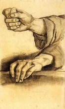 """Репродукция картины """"two hands"""" художника """"ван гог винсент"""""""