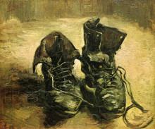 """Репродукция картины """"A Pair of Shoes"""" художника """"Ван Гог Винсент"""""""