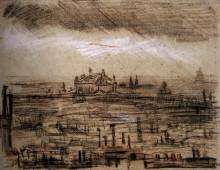 """Картина """"a view of paris with the op"""" художника """"ван гог винсент"""""""