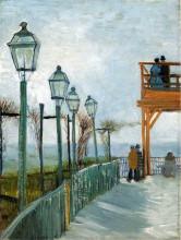 "Копия картины ""belvedere overlooking montmartre"" художника ""ван гог винсент"""