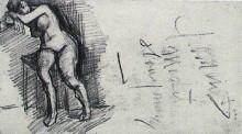 "Репродукция картины ""Female Nude, Seated"" художника ""Ван Гог Винсент"""