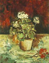 "Картина ""geranium in a flowerpot"" художника ""ван гог винсент"""