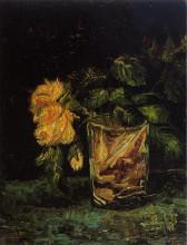 "Копия картины ""glass with roses"" художника ""ван гог винсент"""