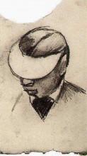 "Репродукция картины ""head of a man with cap (lithographer's shade)"" художника ""ван гог винсент"""