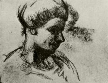 "Картина ""head of a woman"" художника ""ван гог винсент"""
