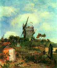"Репродукция картины ""le moulin de la gallette 3"" художника ""ван гог винсент"""