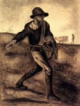 """Копия картины """"sower (after millet)"""" художника """"ван гог винсент"""""""