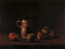 "Картина ""Still Life with Beer Mug and Fruit"" художника ""Ван Гог Винсент"""