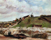 "Репродукция картины ""montmartre the quarry and windmills"" художника ""ван гог винсент"""