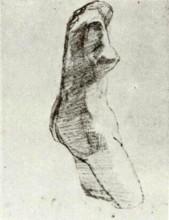 "Репродукция картины ""plaster torso of a woman, seen from the side"" художника ""ван гог винсент"""
