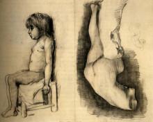 "Репродукция картины ""seated girl and venus"" художника ""ван гог винсент"""