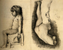 "Копия картины ""Seated Girl and Venus"" художника ""Ван Гог Винсент"""