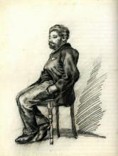 "Репродукция картины ""seated man with a beard"" художника ""ван гог винсент"""