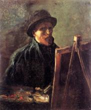 "Репродукция картины ""Self-Portrait with Dark Felt Hat at the Easel"" художника ""Ван Гог Винсент"""