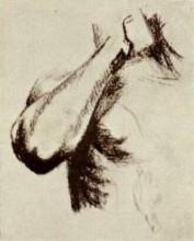 """Репродукция картины """"Sketch of a Right Arm and Shoulder"""" художника """"Ван Гог Винсент"""""""