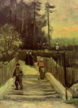 "Репродукция картины ""sloping path in montmartre"" художника ""ван гог винсент"""