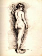 "Репродукция картины ""standing female nude seen from the back"" художника ""ван гог винсент"""