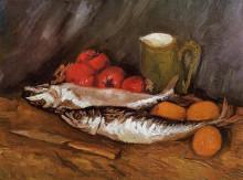 "Репродукция картины ""Still Life with Mackerels, Lemons and Tomatoes"" художника ""Ван Гог Винсент"""
