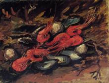 "Копия картины ""still life with mussels and shrimp"" художника ""ван гог винсент"""