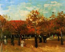 "Копия картины ""The Bois de Boulogne with People Walking"" художника ""Ван Гог Винсент"""