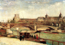 "Картина ""the pont du carrousel and the louvre"" художника ""ван гог винсент"""