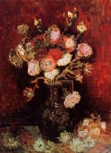"Копия картины ""vase with asters and phlox"" художника ""ван гог винсент"""