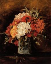 """Репродукция картины """"Vase with Carnations"""" художника """"Ван Гог Винсент"""""""