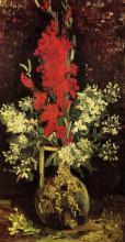 "Репродукция картины ""vase with gladioli and carnations"" художника ""ван гог винсент"""