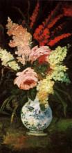 "Картина ""Vase with Gladioli and Lilac"" художника ""Ван Гог Винсент"""