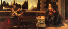 """Репродукция картины """"Благовещение"""" художника """"да Винчи Леонардо"""""""