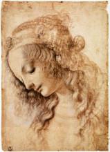 """Копия картины """"woman's head"""" художника """"да винчи леонардо"""""""