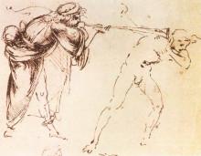 "Репродукция картины ""Study"" художника ""да Винчи Леонардо"""