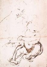 "Репродукция картины ""study for the madonna with the fruit bowl"" художника ""да винчи леонардо"""