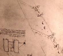 """Картина """"Drawing of locks on a river"""" художника """"да Винчи Леонардо"""""""