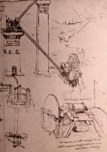 """Копия картины """"Drawings of machines"""" художника """"да Винчи Леонардо"""""""