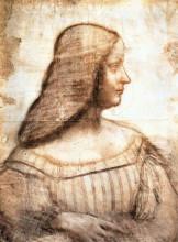 """Репродукция картины """"isabella d'este"""" художника """"да винчи леонардо"""""""