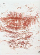 "Копия картины ""Storm over a landscape"" художника ""да Винчи Леонардо"""