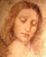 "Картина ""Study of Christ for the Last Supper"" художника ""да Винчи Леонардо"""