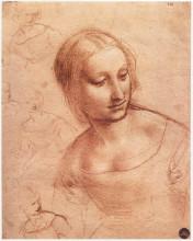 """Копия картины """"Study for Madonna with the Yarnwinder"""" художника """"да Винчи Леонардо"""""""