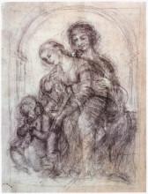 """Картина """"study for st. anne"""" художника """"да винчи леонардо"""""""