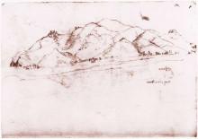 "Репродукция картины ""Landscape near Pisa"" художника ""да Винчи Леонардо"""