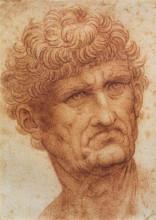 "Копия картины ""Head of a Man"" художника ""да Винчи Леонардо"""