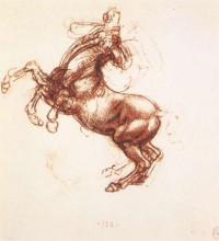 "Картина ""Rearing horse"" художника ""да Винчи Леонардо"""