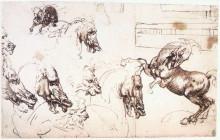 """Копия картины """"Study of horses for the Battle of Anghiari"""" художника """"да Винчи Леонардо"""""""