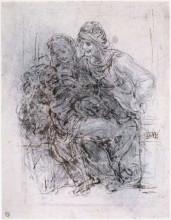"""Копия картины """"Study of St Anne, Mary and the Christ Child"""" художника """"да Винчи Леонардо"""""""