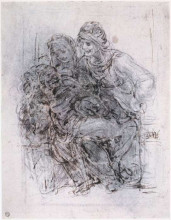 "Репродукция картины ""Study of St Anne, Mary and the Christ Child"" художника ""да Винчи Леонардо"""