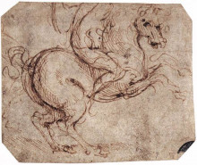 "Копия картины ""Study of a rider"" художника ""да Винчи Леонардо"""